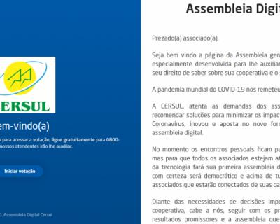 CERSUL orienta sobre assembleia virtual