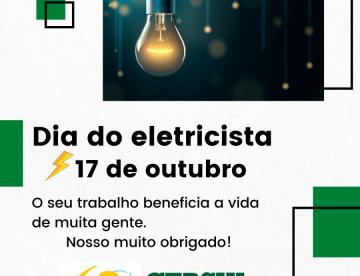 Parabéns eletricistas!