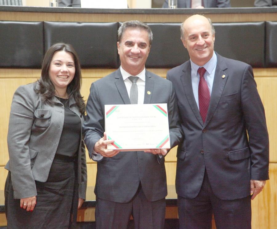 Cersul recebe certificação de Responsabilidade Social 2018 na Assembleia Legislativa de Santa Catarina