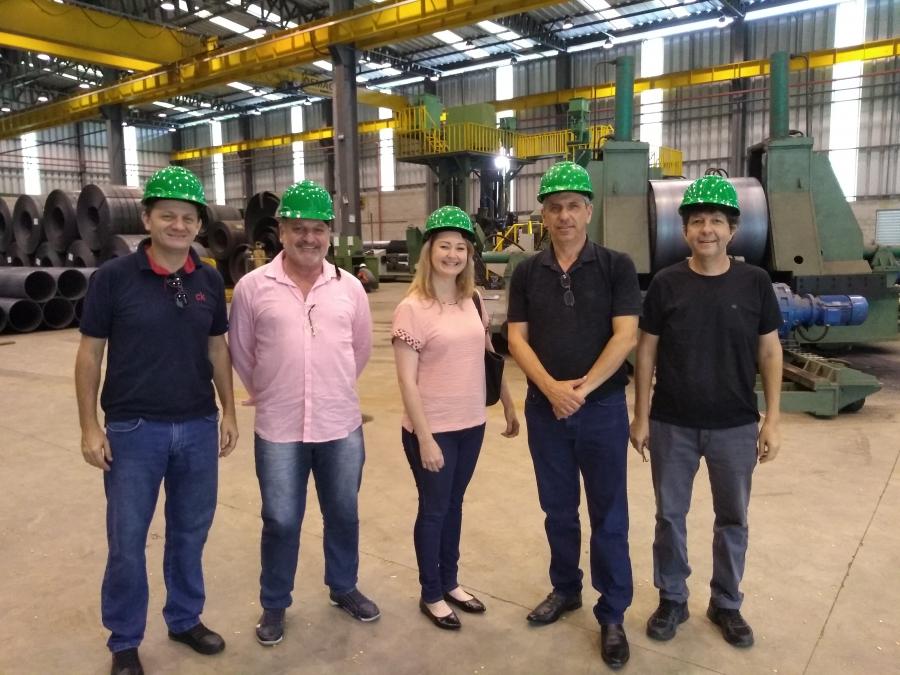 Visita a Fabricante de estruturas metálicas para a LD ( Linha de Distribuição ) de 69KV