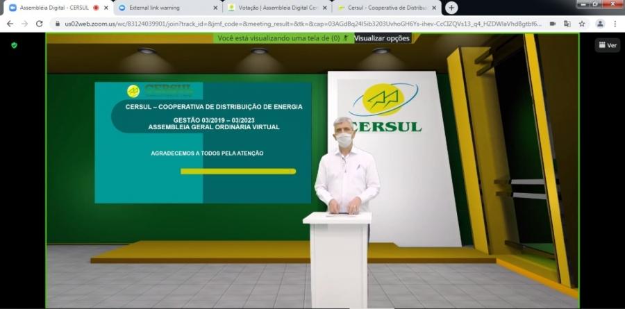 CERSUL realiza primeira assembleia virtual