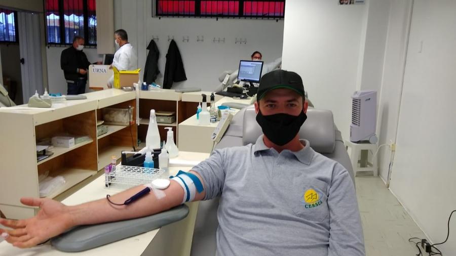 Funcionários da CERSUL doam sangue