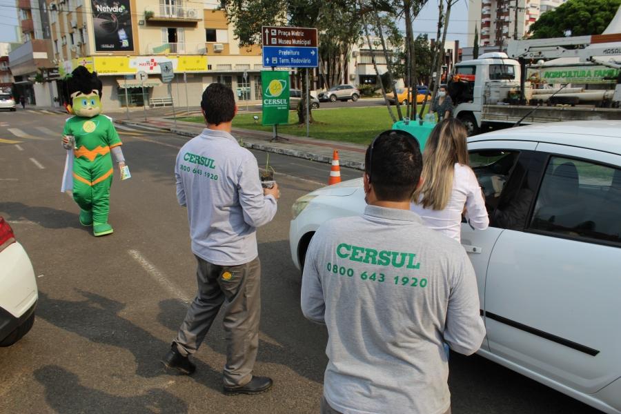 CERSUL distribui mudas de árvores em cinco municípios
